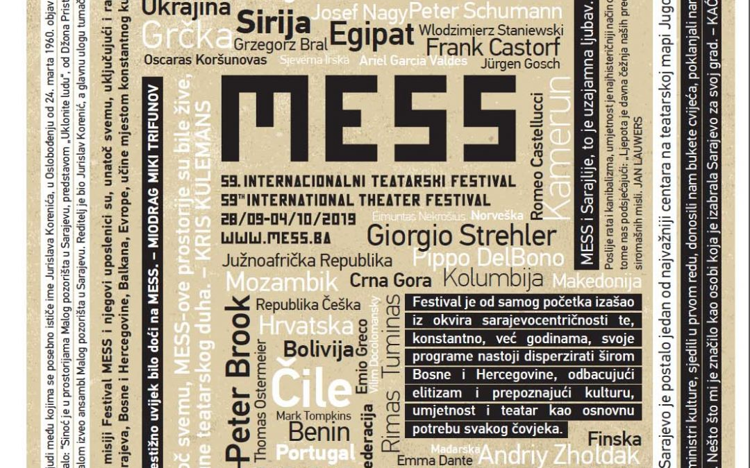 'There will be a 60th milestone for MESS!' – the artists statement at the protest performance