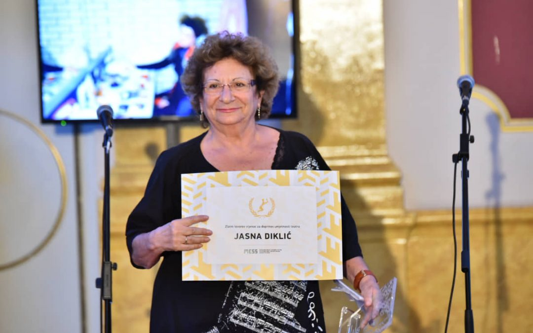 Jasni Diklić and Heinrich Boell Foundation recive Golden Laurel Wreath Awards at 59th International Theatre Festival MESS