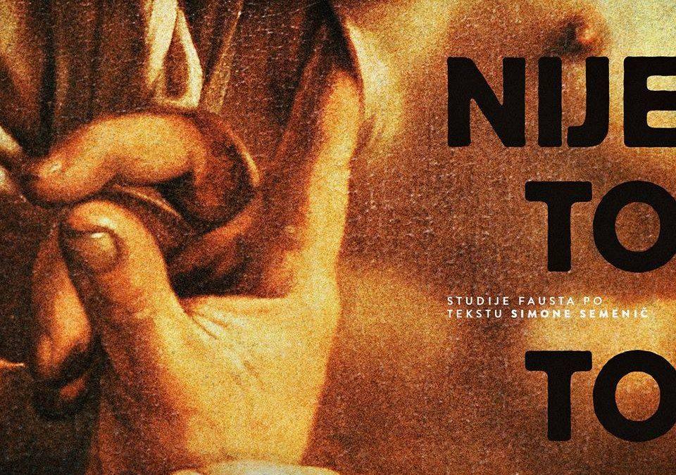 """Premijera predstave """"Nije to to"""" u režiji Tomija Janežiča 7. jula na sceni SARTR-a"""